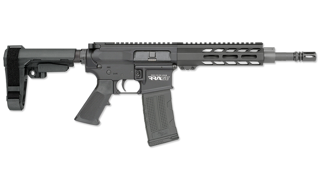 With a 10.5-inch barrel, the Rock River RRAGE pistol excels for home defense.