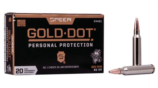 The new Speer Gold Dot Personal Protection rifle ammo comes in 55- and 75-grain 223 Rem.