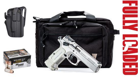 SAR USA K12 Sport Pistol, SIG Ammo, Elite Survival Systems Bag, Blackhawk Holster