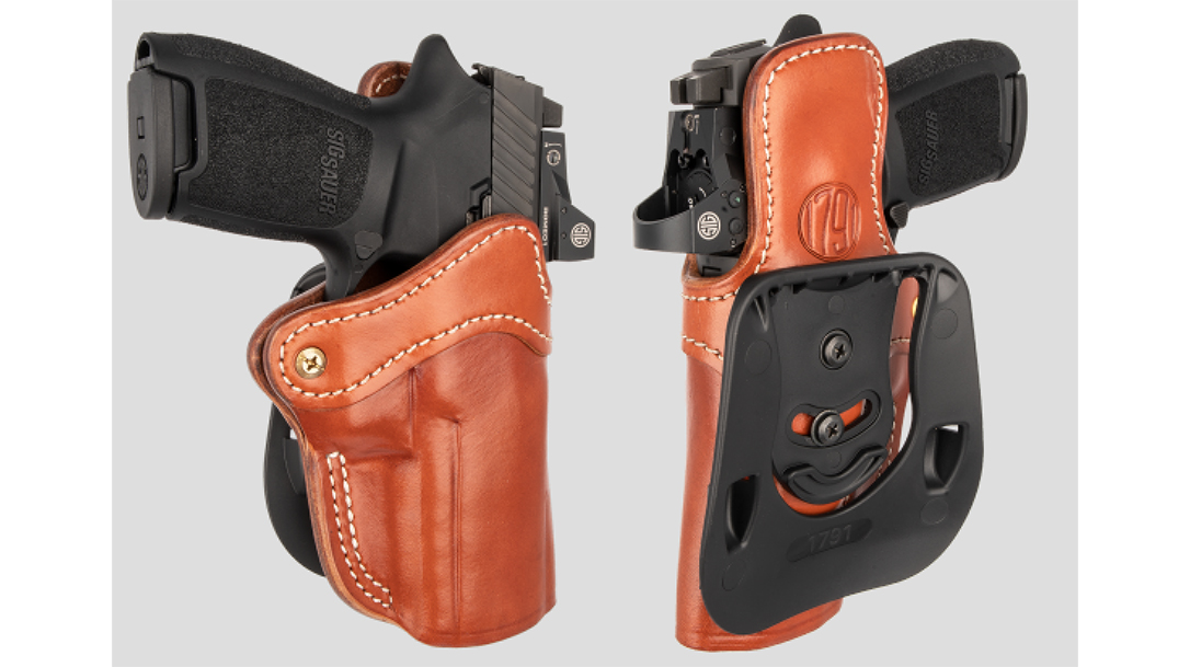 The 1791 Paddle Optics Ready holster comes ready for carry optics concealed carry.