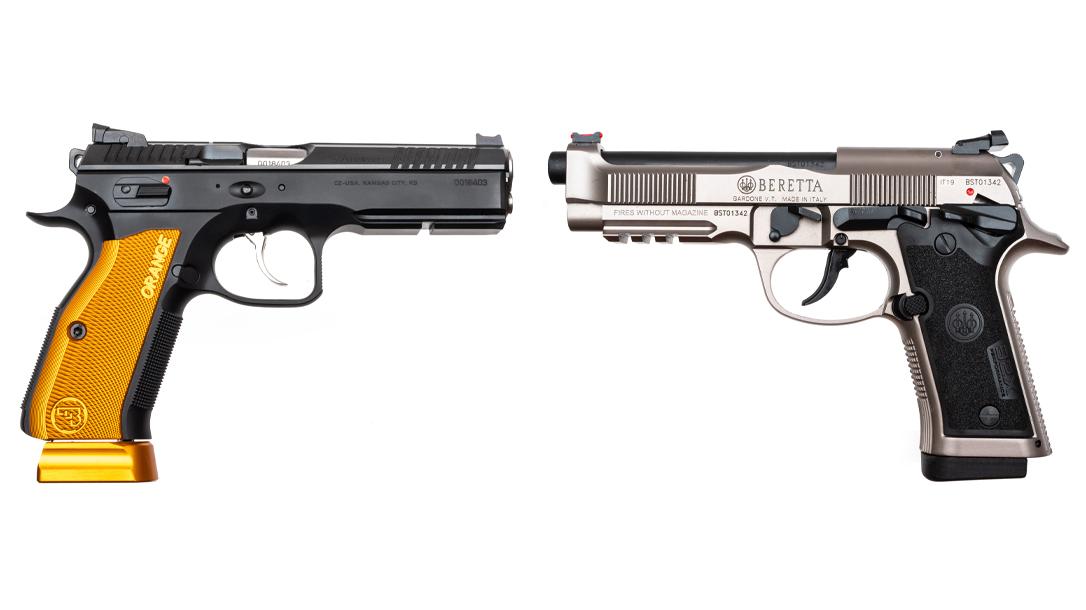 We compared race-ready pistols CZ Shadow 2 Orange and Beretta 92X Performance.