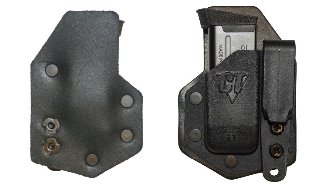 The CompTac eV2 Magazine Pouch provides deep concealment for appendix carry.