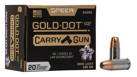 Speer Gold Dot Carry Gun is designed to perform from short barrels..