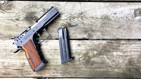 The IFG Defiant Stock I comes ready to race in pistol competition.