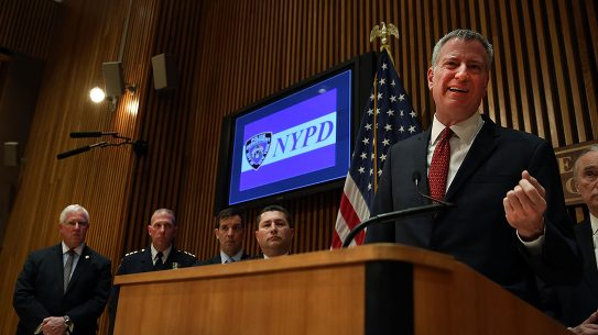 New York City Mayor Bill de Blasio Gun Violence, NYC Shootings