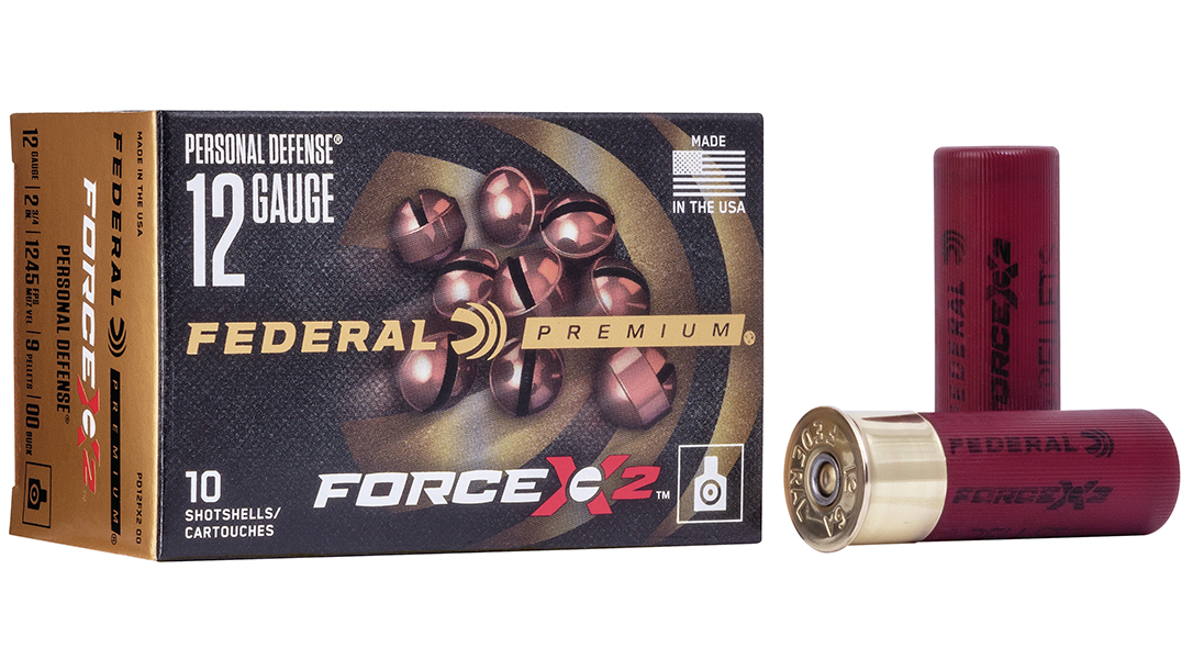 Federal's new Force X2 buckshot splits upon impact.