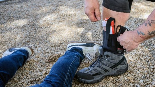 The Galco Ankle Trauma Medical Kit helps you take essential gear on the go.