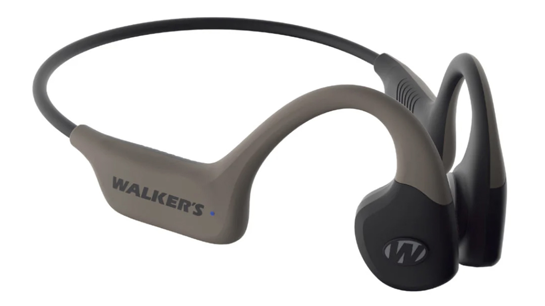 The Walker's Raptor uses bond-conduction technology to amplify sound.