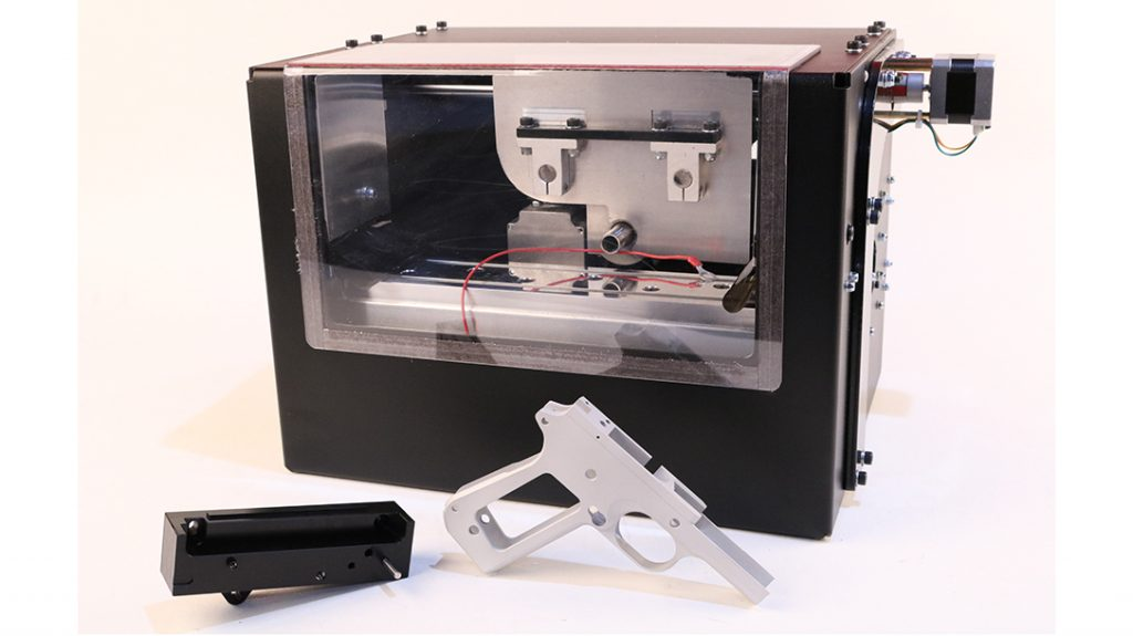 The Ghost Gunner enables DIY gun building at home.