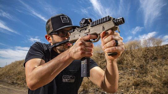 Lightweight and compact, the B&T MP9-N brings tons to the fight.