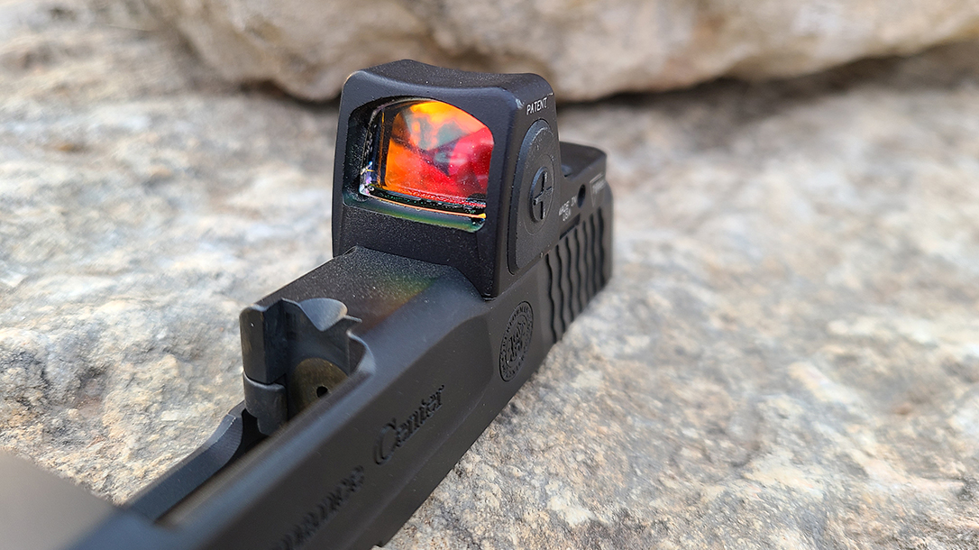 Trijicon RMRcc reflex sight, slide