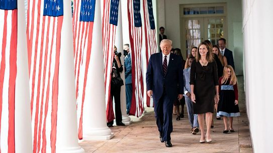 President Donal Trump nominated Amy Barrett to the U.S. Supreme Court.