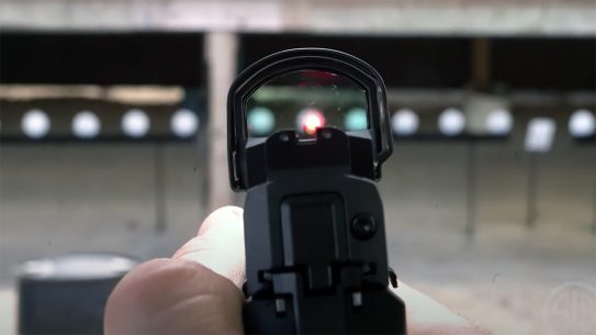 It takes proper training and practice to find the red dot with carry optics.