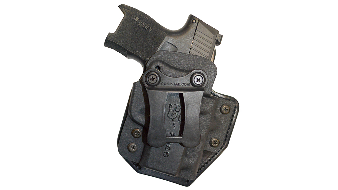 The hybrid Comp-Tac eV2 Infidel holster provides deep IWB concealment.