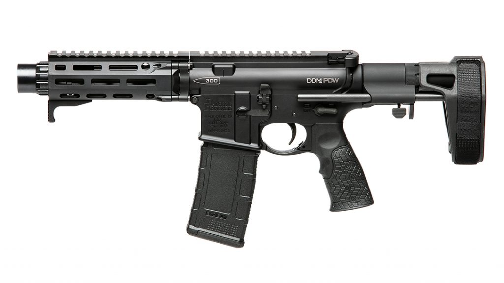Chambered in .300 BLK, the DDM4 PDW brings plenty of stopping power.