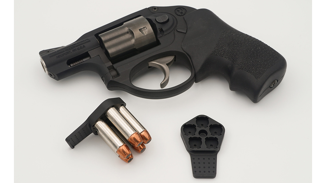The Zeta6 J-CLIP-R Speedloaders provides five rounds at the ready for Ruger LCR revolvers.