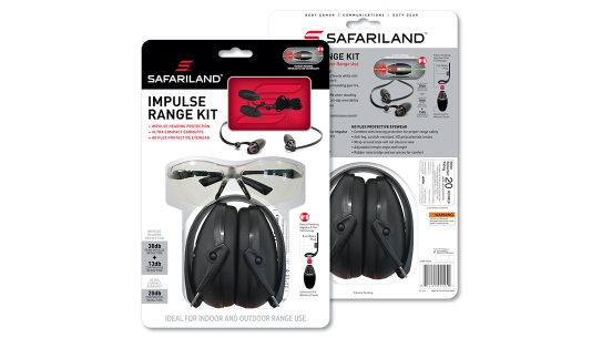 The Safariland Impulse Range Kit includes foam, muffs and eyewear.