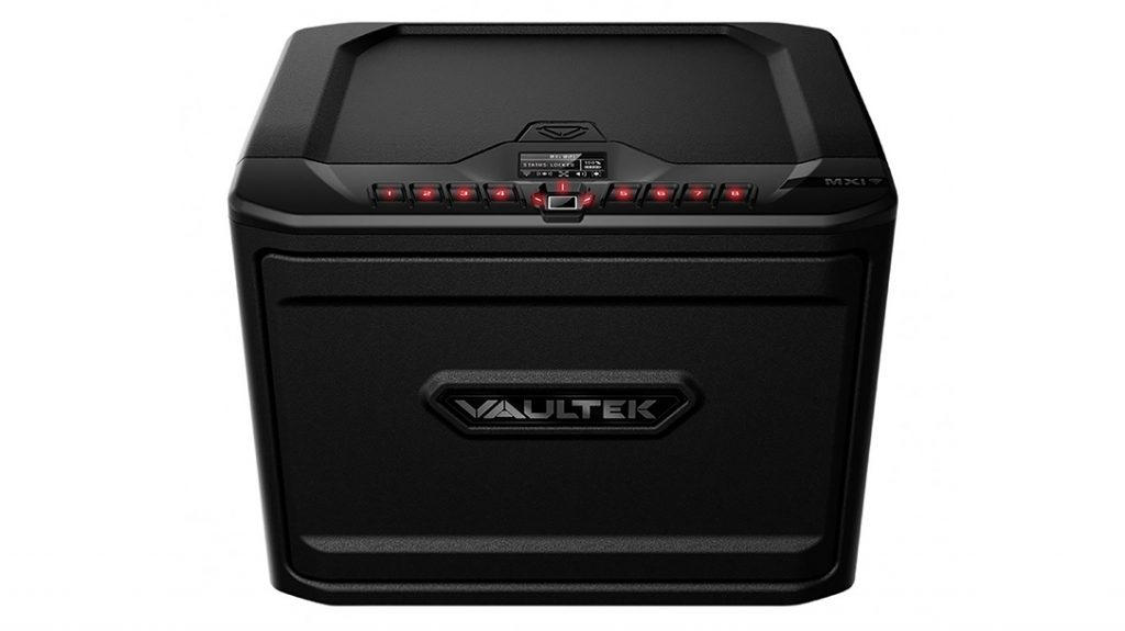 The Vaultek MX Wi-Fi smart safe stores up to eight handguns.
