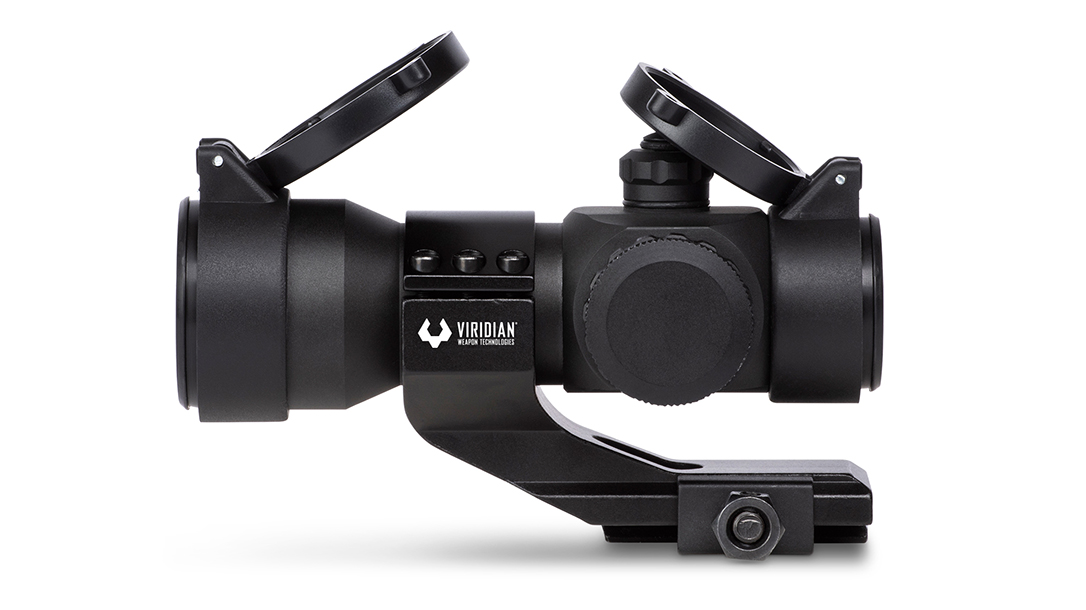 The Viridian EON red dot family delivers a 2 MOA and is parallax free at 100 yards.