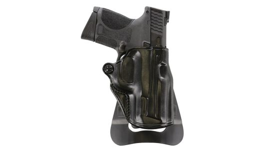The Galco Speed Master 2.0 conceals well, yet offers tension adjustment for security and draw speed.