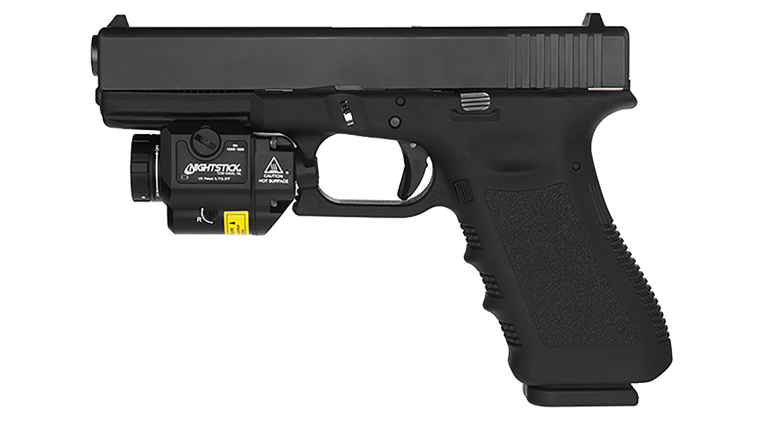Nightstick TCM 550 Series weapon lights now include a green laser for target acquisition.