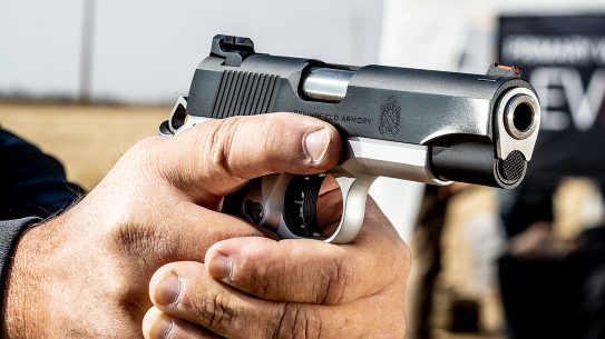 The author turned in 1.26-inch groups during testing with the Springfield Armory Ronin.