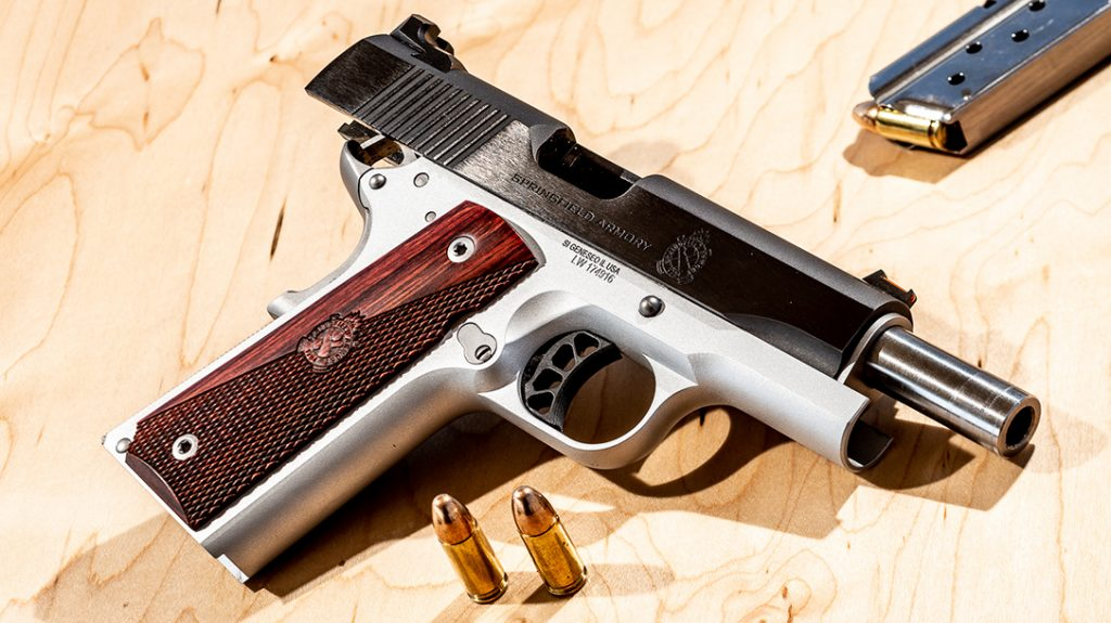 The Springfield Ronin features an attractive two-tone finish.