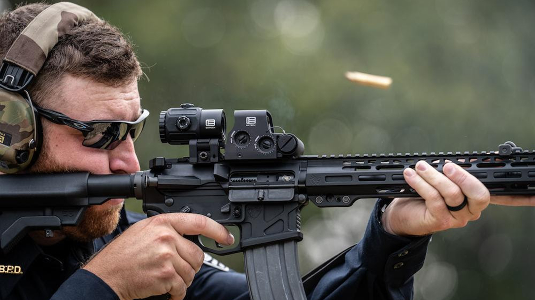 The EOTech G45 extends magnification out to 5X.