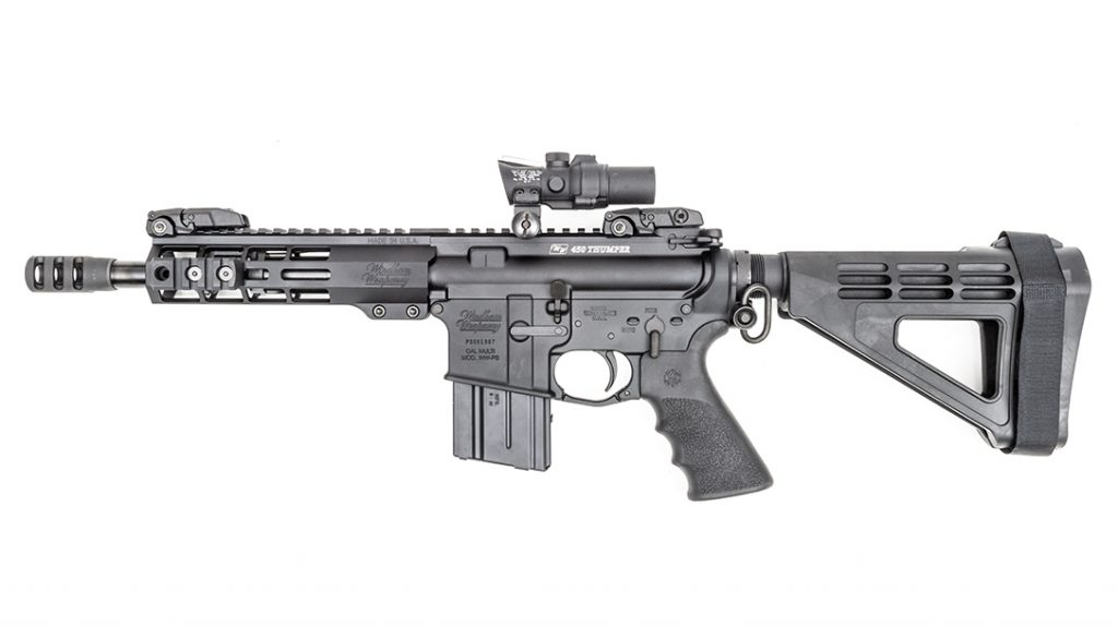 With a 9-inch barrel and 26.25-inch overall length, the 450 Thumper remains nimble.