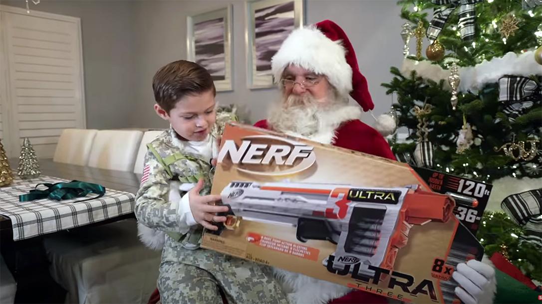 An NRA Santa brought Nerf guns after an anti-gun Santa made a little boy cry.