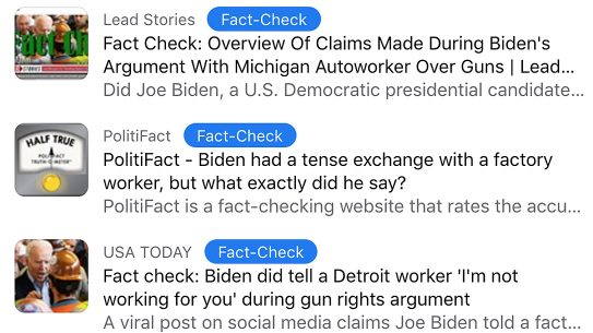 Social media fact checkers are concealing the truth regarding the debate on guns.