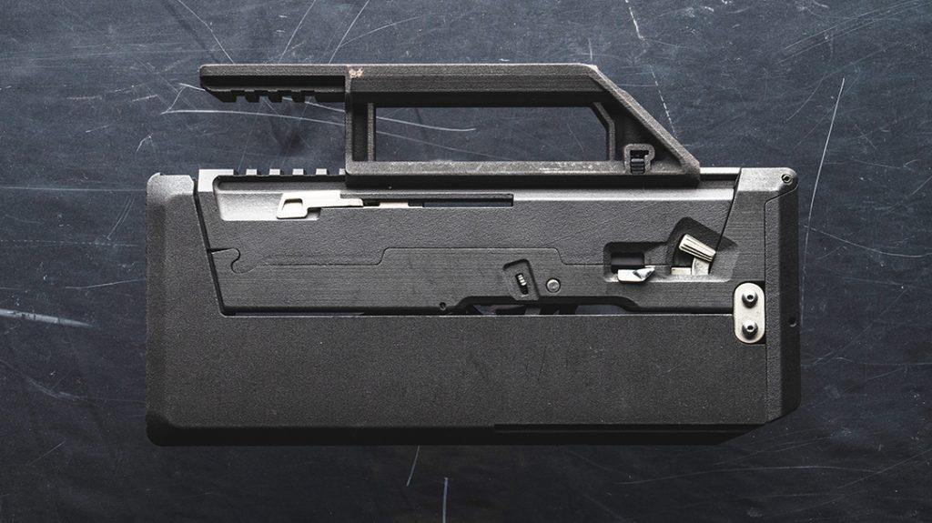The FDP-9 pistol deploys immediately for action.