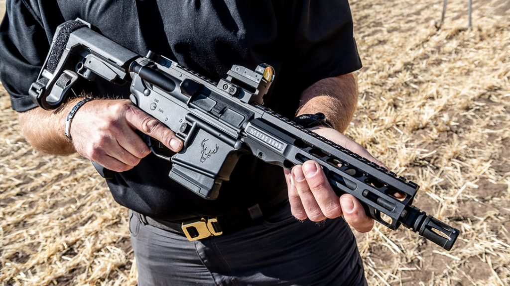 An 8-inch barrel and 7-inch handguard make the Stag 15 QPQ compact.