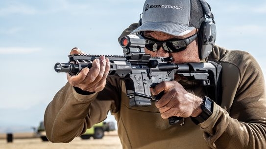 Available in left-hand configuration, the Stage Model 15 QPQ in 300 BLK proved formidable.