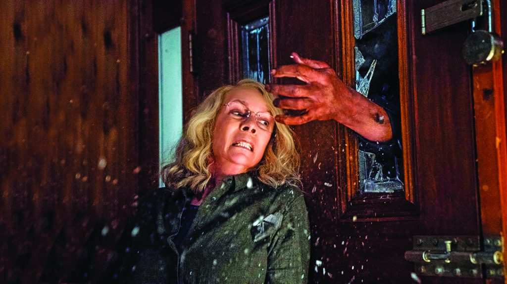 home defense plans, Jamie Lee Curtis took on a serial killer in Halloween.