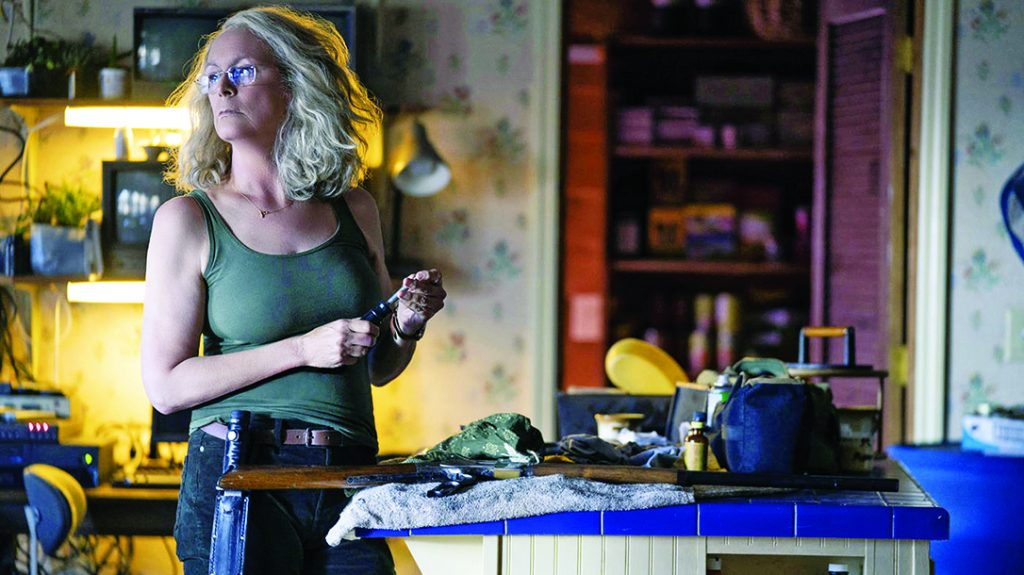 home defense plans, In the slasher movie Halloween, Jamie Lee Curtis strapped on a survival knife.