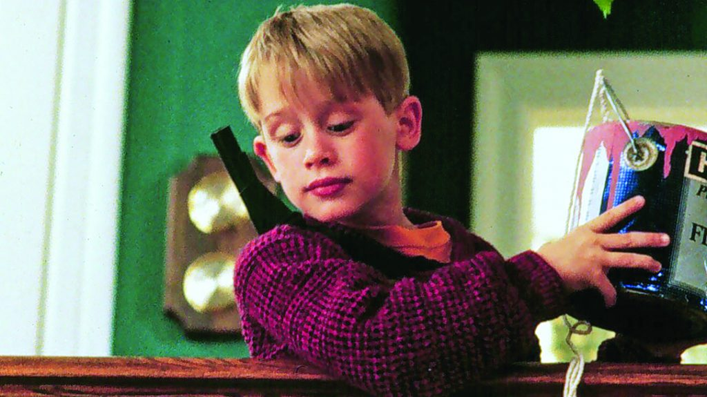 Macaulay Culkin used booby traps like never before in Home Alone.