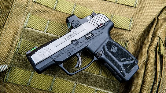 The Ruger Max-9 brings 12+1 rounds in a carry-optics mirco-compact semi-auto platform.