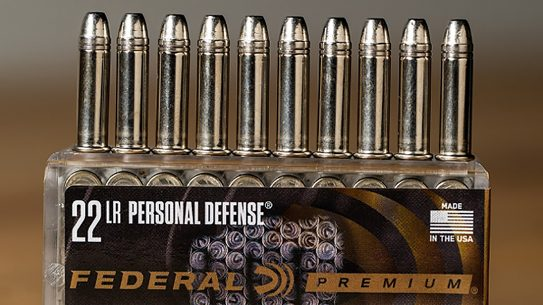The new Federal Punch 22 LR pushes a 29-grain bullet at maximum velocities from short-barreled pistols.