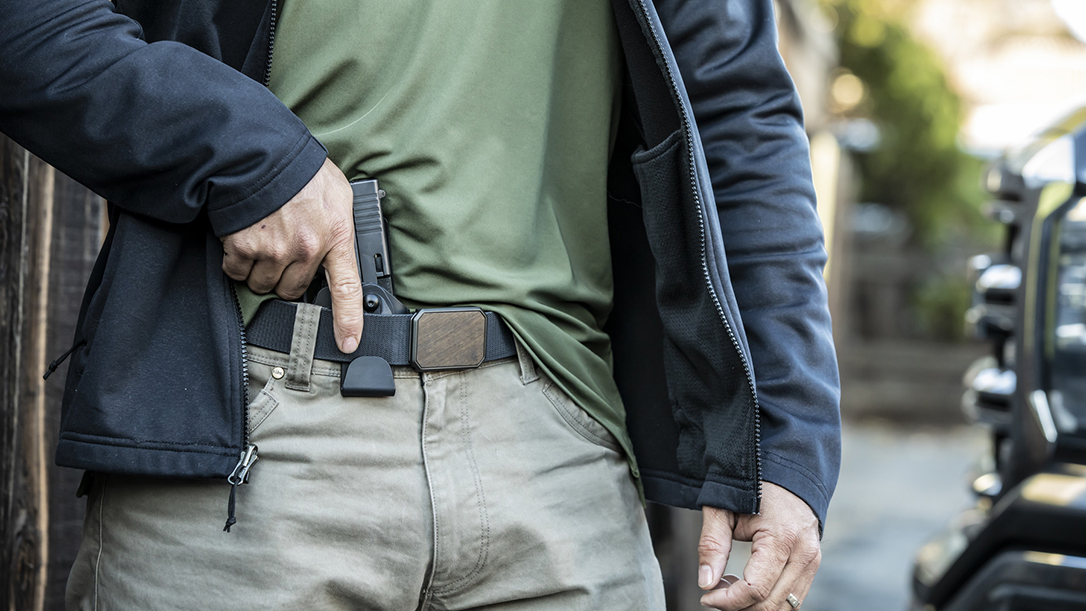 Featuring the company's GLS system, the Safariland 575 Slim offers retention with deep concealment.