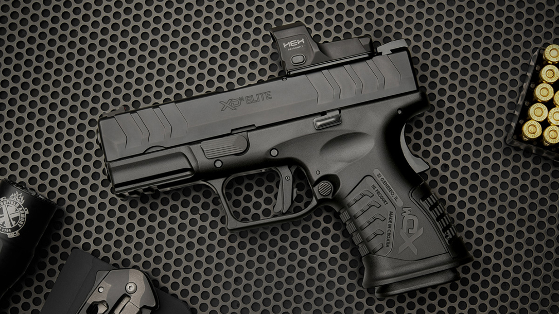 "The Springfield XD-M Elite 3.8"" Compact OSP features 14+1 capacity."