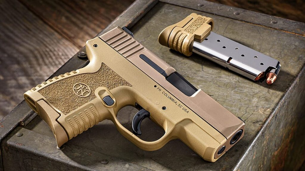The FN 503 micro compact pistol now comes in FDE.