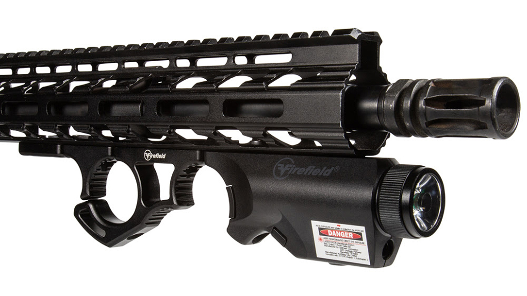 The Firefield Rival XL Forend packages a white light, laser and foregrip into one unit.