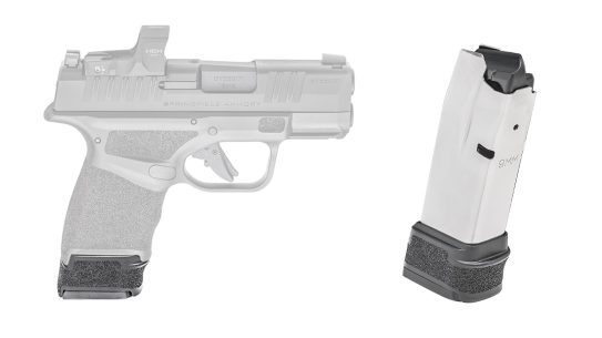 The new 15-round Hellcat magazine ups capacity by two rounds.