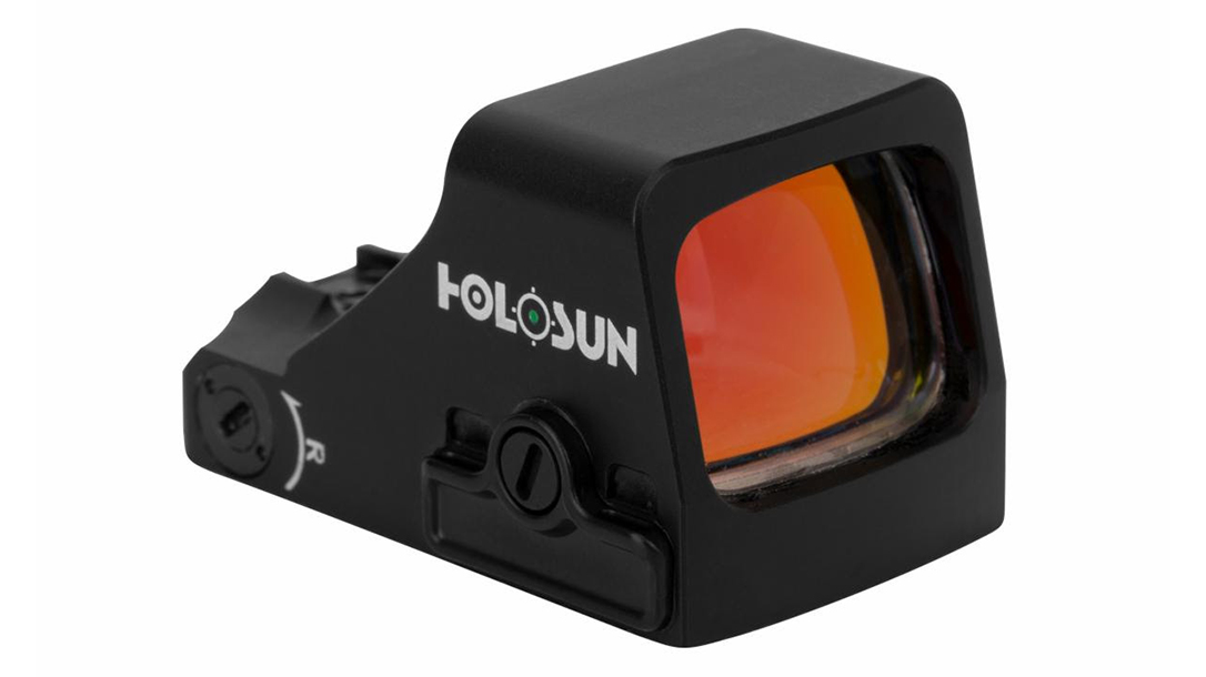 The Holosun 407 red dot now comes with a green reticle option.
