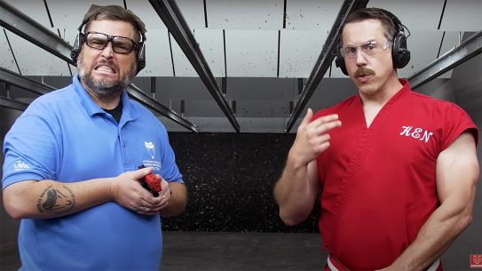 Master Ken shows how to stop a bullet with his bare hands.