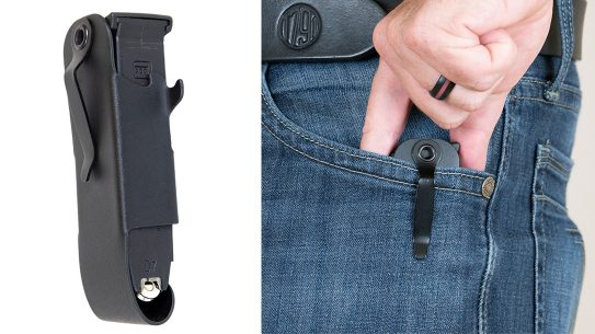 The SNAGMAG magazine holster provides a discreet mag carry method.