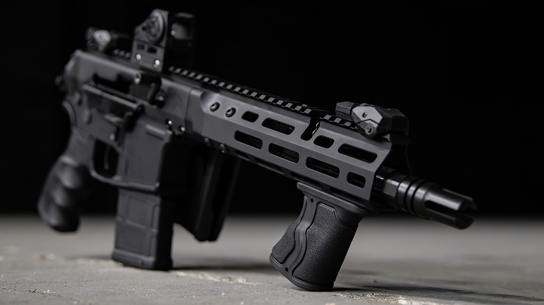 The FAB Defense Gradus-M foregrip provides a low-cost option for better control.