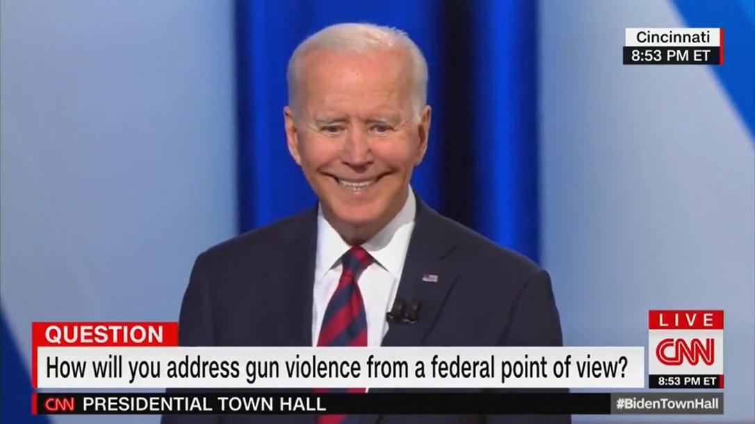 Biden talks about a pistol ban in CNN town hall