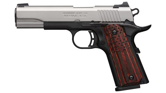 The Browning Black Label Pro American Flag 1911-380 is an 85-percent scaled down 1911.